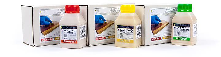 Лаборатория Wooden Studio и Дмитрий Довженко представляет OIL MINI SET - готовые наборы с маслом для отделки деревянных изделий.