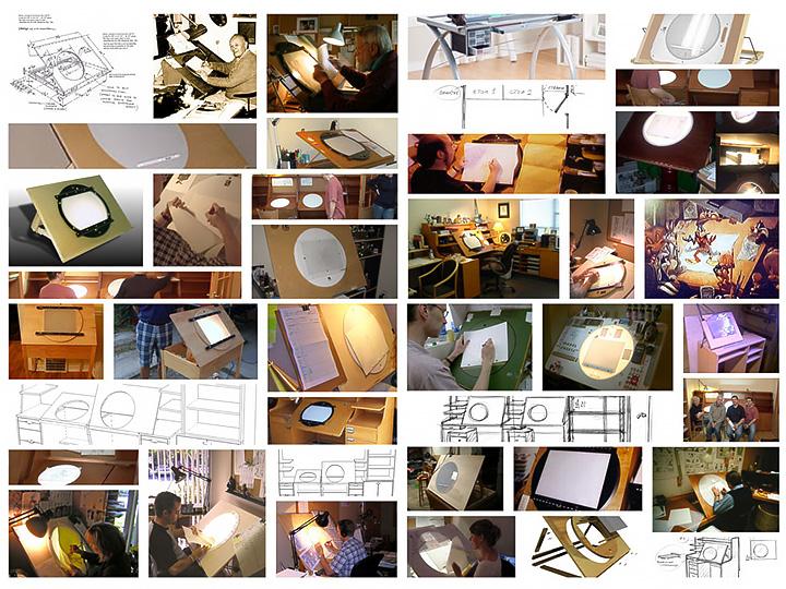 Корпусная мебель из фанеры - просветный стол для аниматоров.