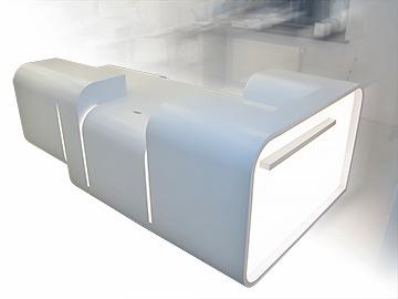 Белая рецепция «2332» с подсветкой - cерия офисной мебели
