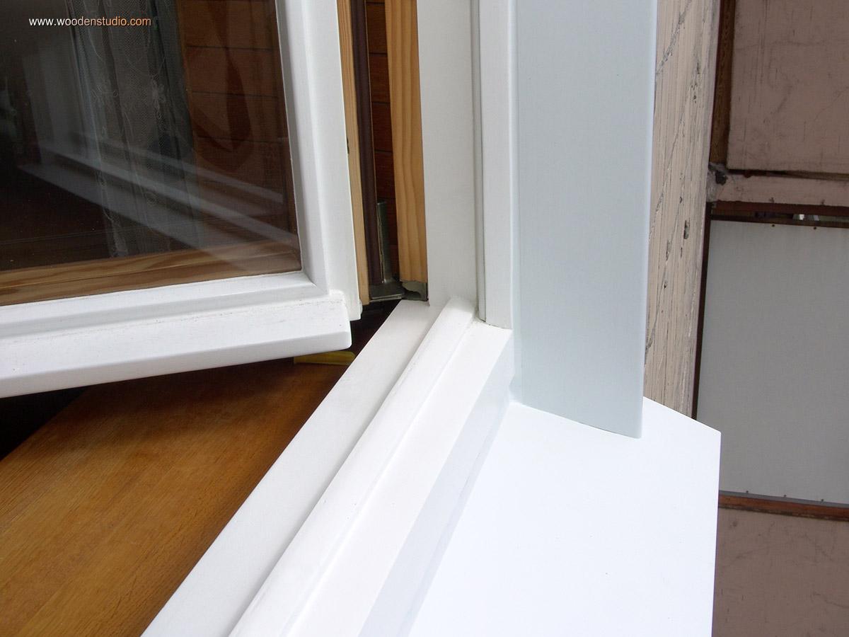 Как сделать отлив на деревянное окно 580