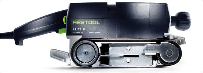 Ленточная шлифовальная машинка Festool BS 75 E с угольными щетками 490918