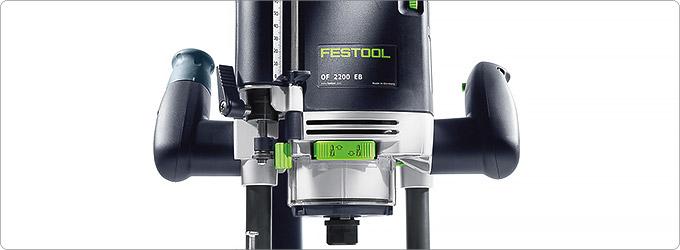 Ручной вертикальный фрезер Festool OF 2200 EB с угольными щетками 495042