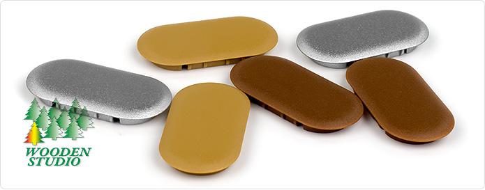 Декоративные заглушки для угловых и продольных (прямых) соединителей Domino