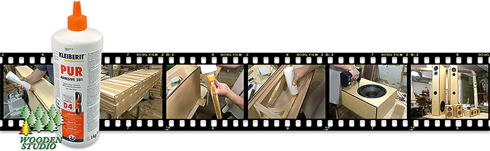 Применение полиуретанового клея PUR 501 (ПУР 51) при сборке корпусов акустических колонок.