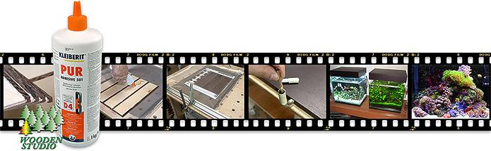 Изготовление светильника-подставки для наноаквариума с испльзованием полиуретанового клея ПУР 501.