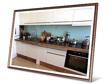 Кухонная столешница из натуральной древесины Wenge