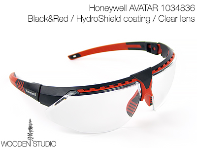 Очки защитные Honeywell AVATAR Black&Red/Clear lens