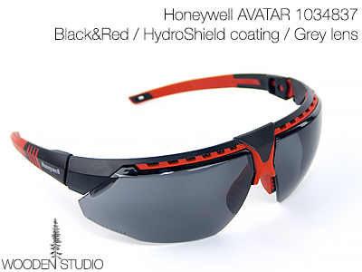 Очки защитные Honeywell AVATAR Black&Red/Grey lens