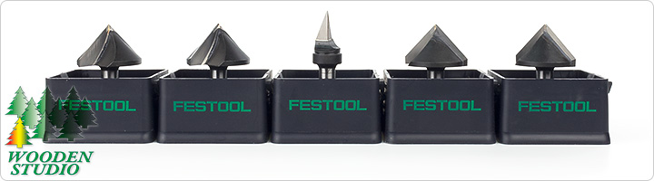 Фрезы Festool с твердосплавными напайками для выборки V-образных пазов в листах гипсокартона.