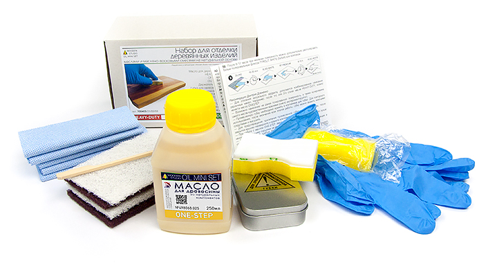 Набор для нанесения натурального масла HD на поверхности деревянных изделий