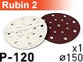 Шлифовальный абразивный круг RUBIN-2 D150 P120 - 1шт