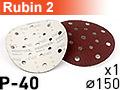 Шлифовальный абразивный круг RUBIN-2 D150 P40 - 1шт