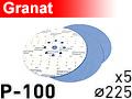 Шлифовальный круг D225 GRANAT P100 - 1шт