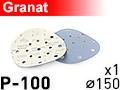 Шлифовальный абразивный круг GRANAT D150 P100 - 1шт