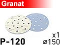 Шлифовальный абразивный круг GRANAT D150 P120 - 1шт