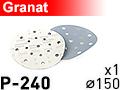 Шлифовальный абразивный круг GRANAT D150 P240 - 1шт