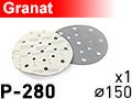 Шлифовальный абразивный круг GRANAT D150 P280 - 1шт